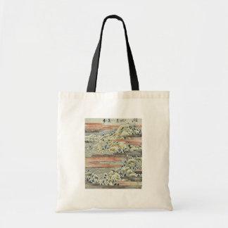 Nieve de la tarde en Hira por Katsushika, Hokusai  Bolsas