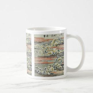 Nieve de la tarde en Hira por Katsushika, Hokusai  Tazas De Café