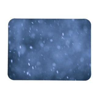 Nieve de la tarde iman rectangular