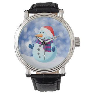 Nieve de las Felices Navidad del invierno del Relojes De Mano