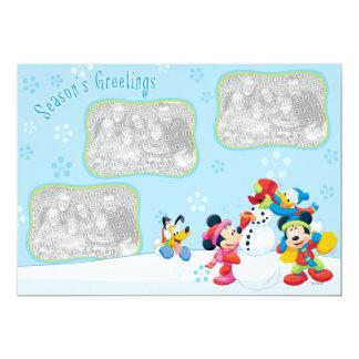 """Nieve de Mickey y de los amigos: Tarjeta de Invitación 5"""" X 7"""""""