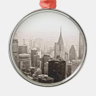 Nieve de Nueva York Adorno