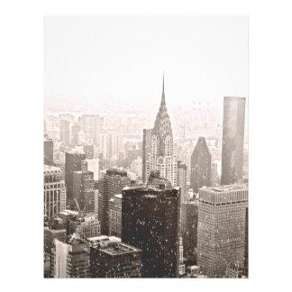 Nieve de Nueva York Plantilla De Membrete