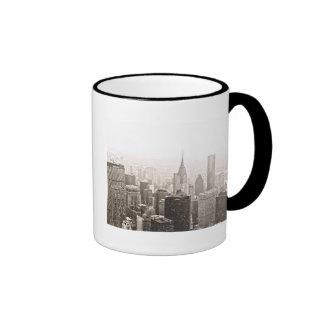 Nieve de Nueva York Tazas De Café