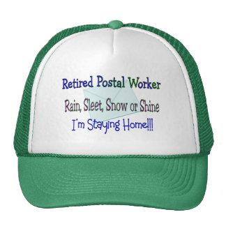Nieve del aguanieve de la lluvia del empleado de c gorras de camionero