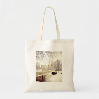 Nieve del Central Park - invierno Nueva York Bolsa Tela Barata