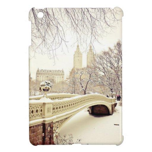 Nieve del Central Park - invierno Nueva York iPad Mini Protector