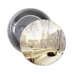 Nieve del Central Park - invierno Nueva York Pins