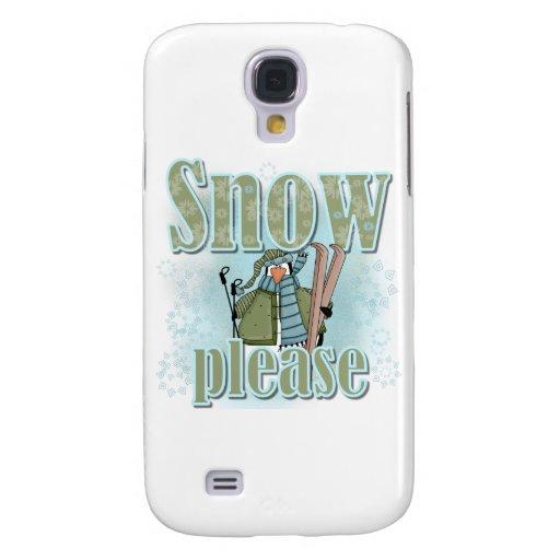 Nieve del esquí del pingüino por favor y regalos