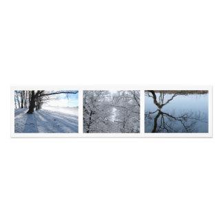 """Nieve del invierno, Boston, foto del mA 30x7.5"""""""