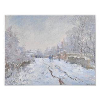 Nieve del invierno en Argeteuil Cojinete