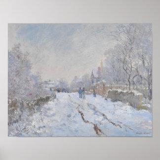Nieve del invierno en Argeteuil Posters