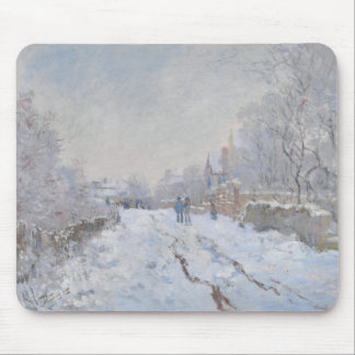 Nieve del invierno en Argeteuil Tapete De Ratones