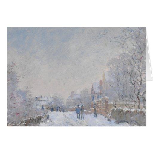 Nieve del invierno en Argeteuil Tarjeta De Felicitación