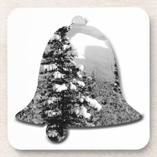 Nieve del invierno; Felices Navidad Posavasos De Bebidas