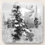 Nieve del invierno; Felices Navidad Posavasos