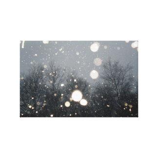 nieve del invierno impresiones en lona