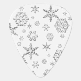 Nieve del invierno púa de guitarra