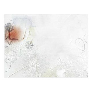 nieve del invierno postal