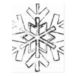 Nieve del invierno postales