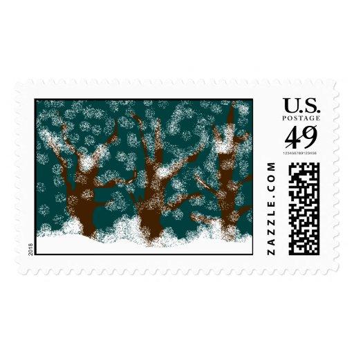 nieve del invierno sellos