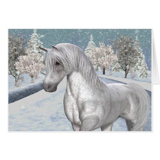 Nieve del invierno tarjeta de felicitación