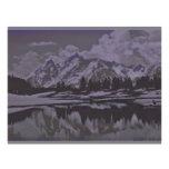 nieve del lago de la montaña tarjeta publicitaria