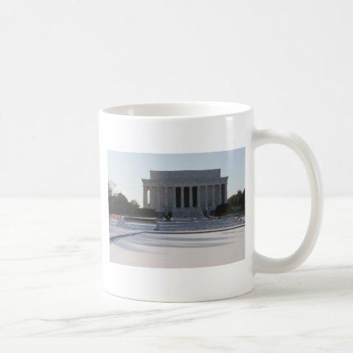 nieve del Lincoln memorial Taza Clásica