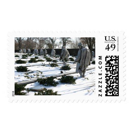 Nieve del monumento de los veteranos de Guerra de Franqueo