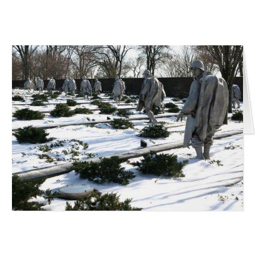 Nieve del monumento de los veteranos de Guerra de  Tarjeta De Felicitación