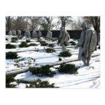 Nieve del monumento de los veteranos de Guerra de Postal