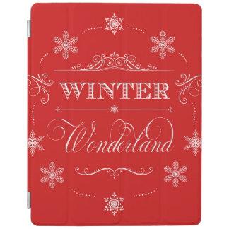 Nieve del navidad rojo y blanco del país de las cover de iPad