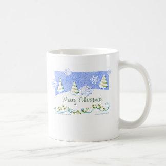 Nieve del navidad taza de café