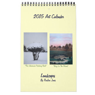 Nieve del paisaje del arte y pinturas estacionales calendario