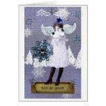 Nieve del terciopelo tarjeta
