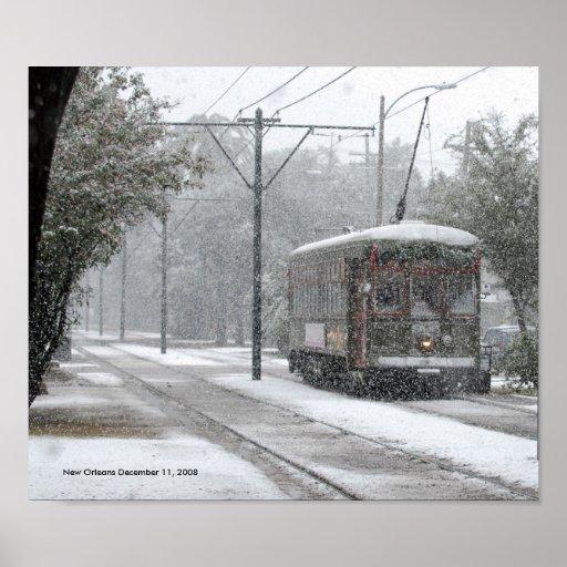Nieve del tranvía de New Orleans Impresiones
