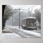 Nieve del tranvía de New Orleans Póster