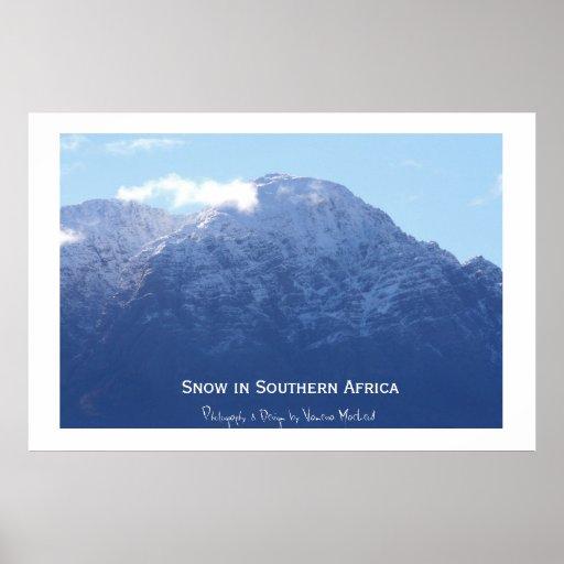 Nieve en África meridional Impresiones