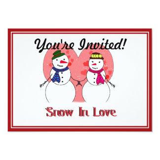 """Nieve en amor invitación 5"""" x 7"""""""
