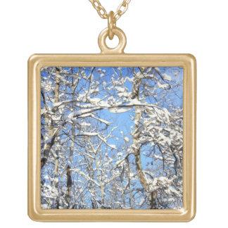 Nieve en árboles de álamo joyerias personalizadas