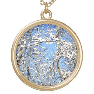 Nieve en árboles de álamo joyeria personalizada