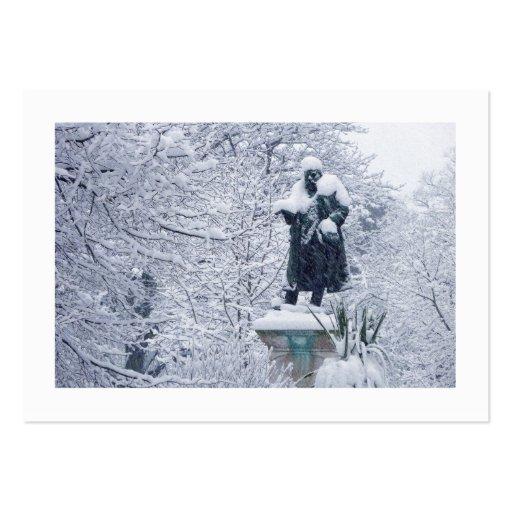 Nieve en el parque (confinado) plantilla de tarjeta personal