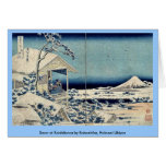 Nieve en Koishikawa por Katsushika, Hokusai Ukiyoe Felicitación