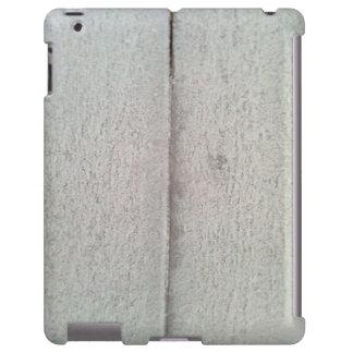 Nieve en la pared de madera funda para iPad