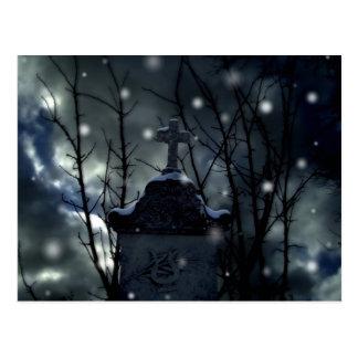 Nieve en la postal del cementerio