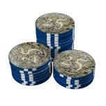 Nieve en la tierra fichas de póquer