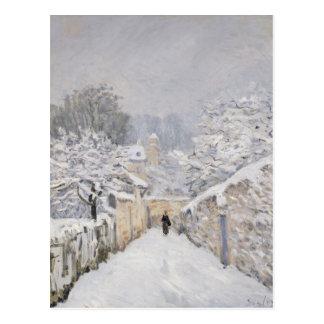 Nieve en Louveciennes, 1878 Postales
