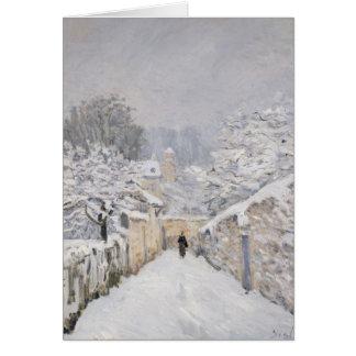 Nieve en Louveciennes, 1878 Tarjetas