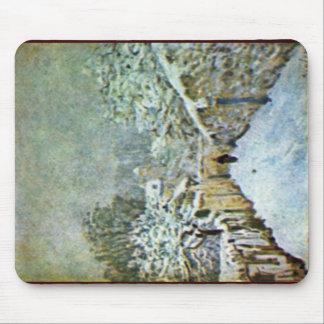 Nieve en Louveciennes por Sisley Alfred Alfombrilla De Raton