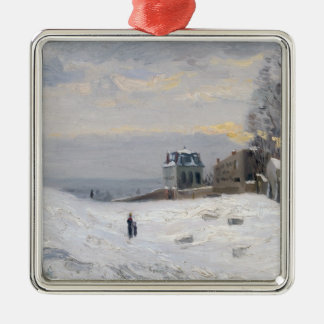 Nieve en Montmartre 1869 Adorno De Navidad